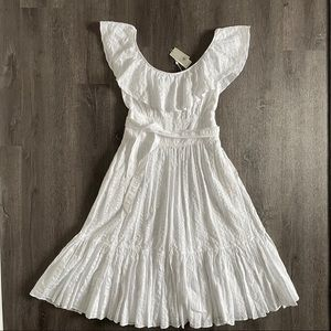 (NWT) Tory Burch Seersucker White Belted Dress (8)